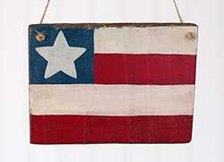 Primitive Flag Wood Sign