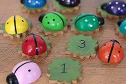 Ladybug & Leaf Matching/Counting Set (20 pc)