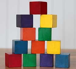 Rainbow Stacking Blocks (Set of 12)