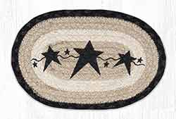 OMSP-313 Primitive Star Black Braided Oval Trivet