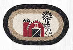 OMSP-313 Windmill Braided Oval Trivet