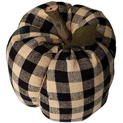 Black Check Pumpkin - Large