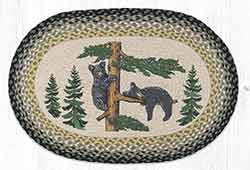 "Black Bears and Moose 20/""x30/"" Oval Braided Jute Rug 65-043BM"