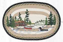 Loon on Lake 20 x 30 inch Braided Rug