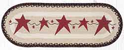 OP-19 Primitive Stars Burgundy 36 inch Braided Table Runner