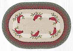 OP-25 Holly Cardinal 20 x 30 inch Braided Rug