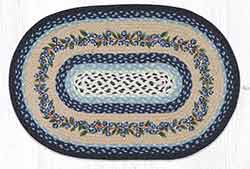 OP-312 Blueberry Vine 20 x 30 inch Braided Rug