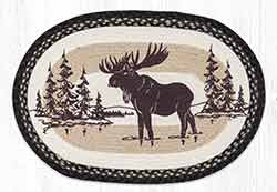Moose Silhouette 20 x 30 inch Braided Rug