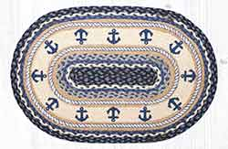 Anchor 20 x 30 inch Braided Rug
