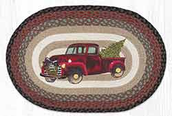Christmas Truck 20 x 30 inch Braided Rug
