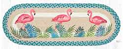 OP-586 Pink Flamingos 36 inch Braided Table Runner