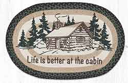 OP-597 Life Is Better At The Cabin 20 x 30 inch Braided Rug