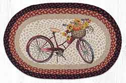 OP-603 Red Bicycle 20 x 30 inch Braided Rug