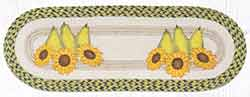 OP-9-120 Pears & Sunflowers 36 inch Braided Table Runner