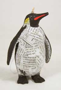 Cody Foster Penguin Recycled Paper Ornament