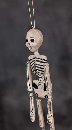Recycled Paper Skeleton Ornament - Female