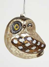 Cody Foster Winking Hooter Owl Ornament