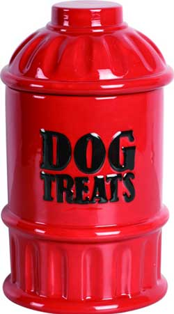 Hydrant Dog Treat Canister