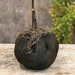 Stuffed Black Pumpkin with Wood Stem