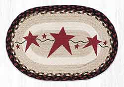 Primitive Star Burgundy Braided Placemat