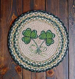 Shamrock Round Braided Placemat