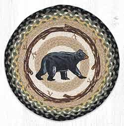 Mama Bear Round Braided Placemat