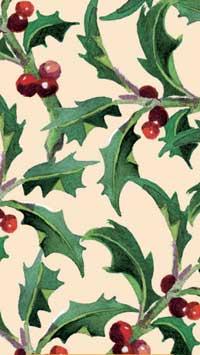 Winter Flowers Pocket Tissues