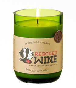 Palm Sangria Rescued Wine Candle