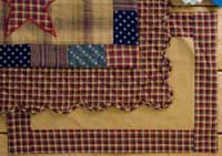 Victorian Heart Patriotic Patch Placemats - Non-Quilted (Set of 2)