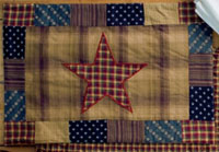 Victorian Heart Patriotic Patch Placemats - Star (Set of 2)