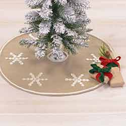 Pearlescent Mini 21 inch Tree Skirt