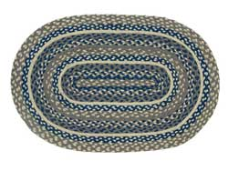 Pewter Oval Jute Rug (Multiple Size Options)