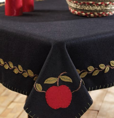 Apple Harvest Felt Tabletopper/Tablecloth (40 x 40 inch)
