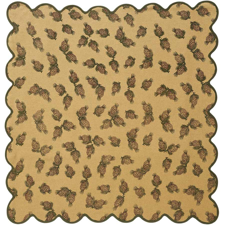 Pine Cone Tabletopper/Tablecloth (40 x 40 inch)
