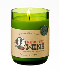Pinot Noir Rescued Wine Candle