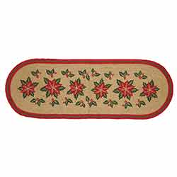 Poinsettia Jute 36 inch Table Runner