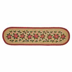 Poinsettia Jute 48 inch Table Runner