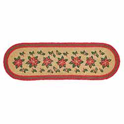 Poinsettia Jute Latex Stair Tread