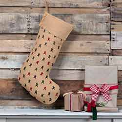 Primitive Star Jute 20 inch Stocking