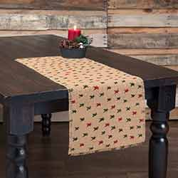 Primitive Star Jute 36 inch Table Runner