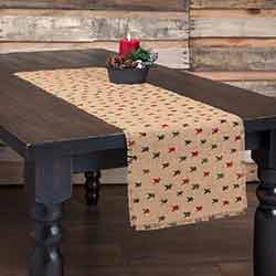 Primitive Star Jute 48 inch Table Runner