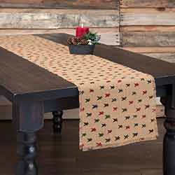 Primitive Star Jute 72 inch Table Runner