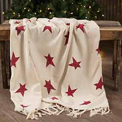 Primitive Star Woven Throw 60x50