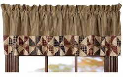 Providence Valance with Pinwheel Border