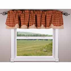 Pumpkin Spice Fairfield Valance