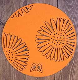 Round Butterfly Placemat - Orange