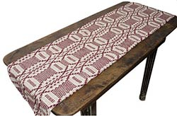 Burgundy & Tan 56 inch Table Runner