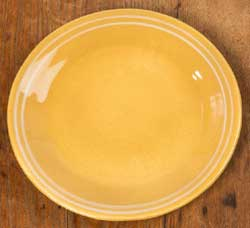 Yellowware Dinner Plates (Set of FOUR)