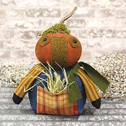 Pumpkin Farmer Doll