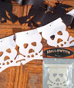Skeleton Tissue Paper Garland